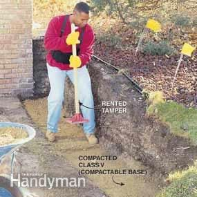 How to Build a Concrete Block Retaining Wall | The Family Handyman
