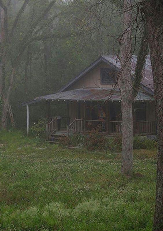 Old Farm House In The Rain