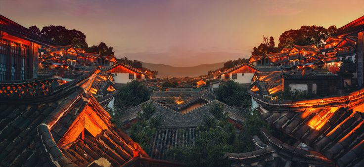 https://flic.kr/p/hW7C8G | The Infinity of China | Here is a new photo I really love.  It was taken in the old city of Li Jiang, China when I last visited there. I did not get a chance to work on it until just recently. In fact, I love it so much, you can probably see it up there on The Arcanum website behind some of that parallax scrolling text.  I like the idea of this kind of Chinese infinity, the repetition, the slight variations on a constant theme. It all kind of came together in this…