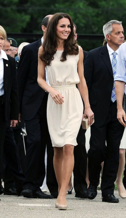 Kate Middleton- love the drape of this dress!