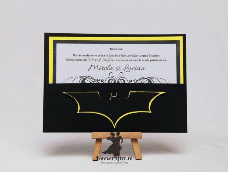 Invitatie de nunta Batman | Invitatii de nunta - Handmade | ForeverAfter.ro