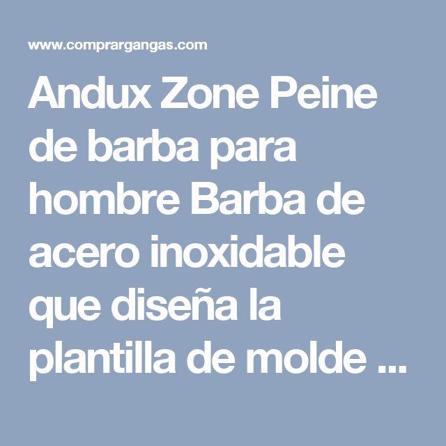 Andux Zone Peine de barba para hombre Barba de acero inoxidable que diseña la plantilla de molde Plata BXGSZ-01 - Comprar Barato
