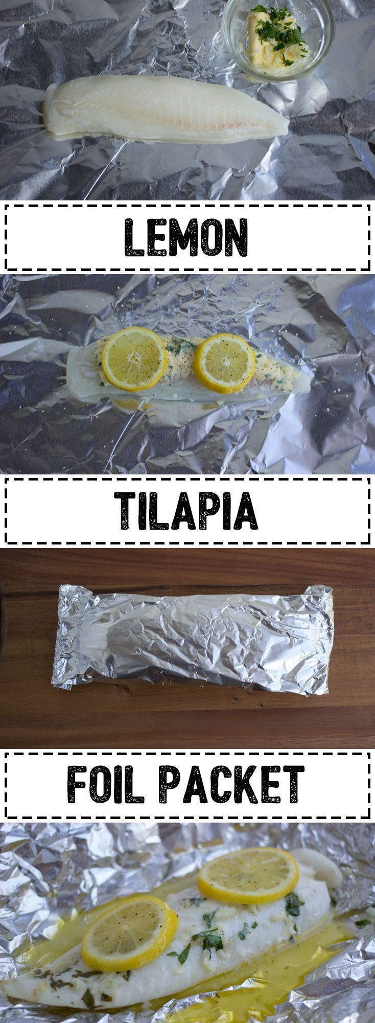 Lemon Tilapia Foil Packet