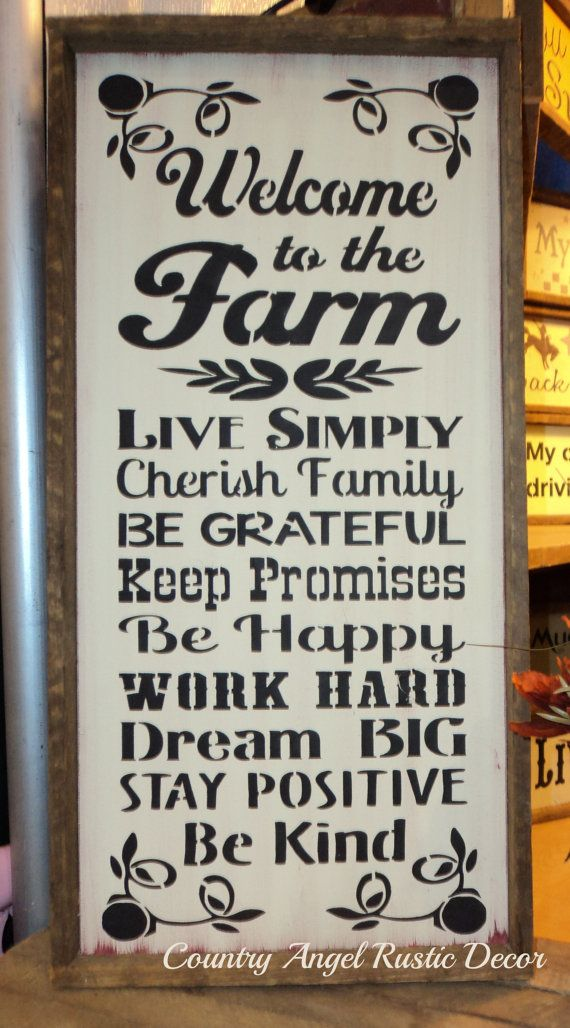 Welcome to the FARM Rustic distressed by CountryAngelRustic