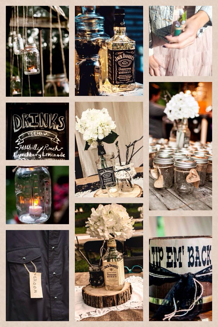 Rustic jack daniels themed wedding mjd friday the th