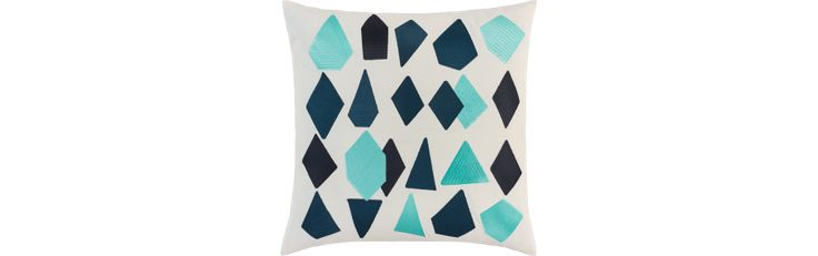 Ice Coussin 50x50 à motifs bleus (www.habitat.fr)