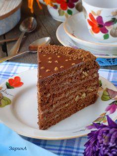 Торт медовый, шоколадный пошаговый рецепт с фотографиями