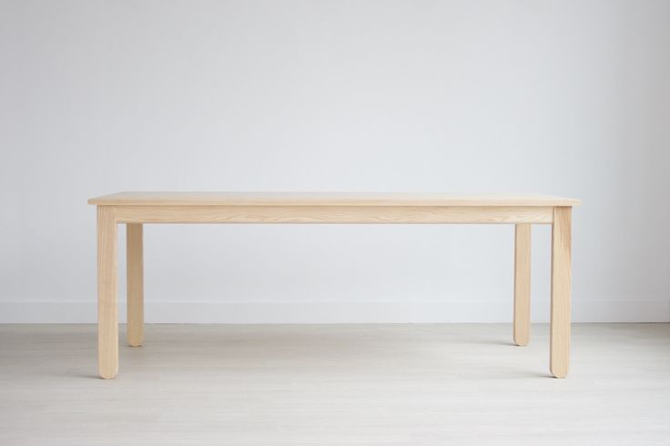 Stir Parsons Table in White Ash. One of the modern dining tables designed by KROFT