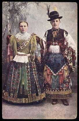 Mezőkövesdi népviselet. Leány és legény   Képeslapok   Hungaricana