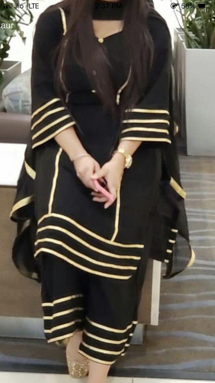 Laces On Plain Suit In 2019 Punjabi Suits Designer