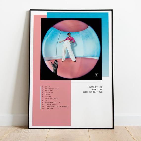 Harry Styles Fine Line Album Wall Art Print Poster A3 A2 A1 In 2020 Harry Styles Poster Harry Styles Album Cover Harry Styles