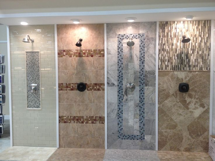 Love These Split Showers To Display Multiple Options Maybe With Trip Or  Design