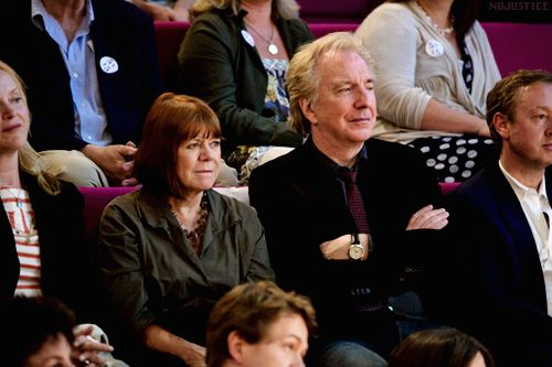 July 5, 2011 - Alan Rickman, Rima Horton, actress Miranda Richardson, and comedian Ruby Wax attend the Independent Voices 5x15: Hacked Off With Free Speech event in London.  Copyright © Getty Images and WireImage