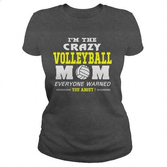 CRAZY VOLLEYBALL MOM - #womens #wholesale sweatshirts. ORDER NOW => https://www.sunfrog.com/LifeStyle/CRAZY-VOLLEYBALL-MOM-Dark-Grey-Ladies.html?60505
