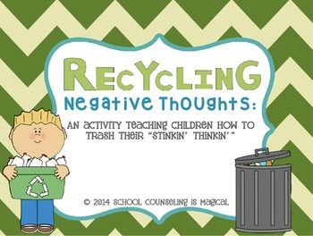Negative thoughts, Game cards and How to recycle on Pinterest
