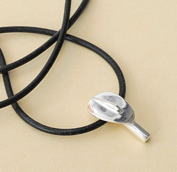Sterling Silver Necklace Small Abstract Cycladic by GreekMythos