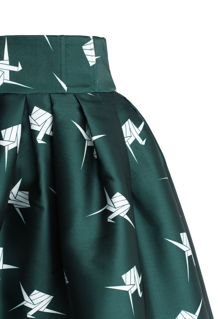 Paper Cranes Pleated Tulip Skirt
