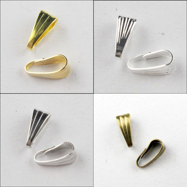 Necklace Connector Clip Bail 3x7mm,3.5x8mm Gold,Silver,Bronze,Dull Silver Plt