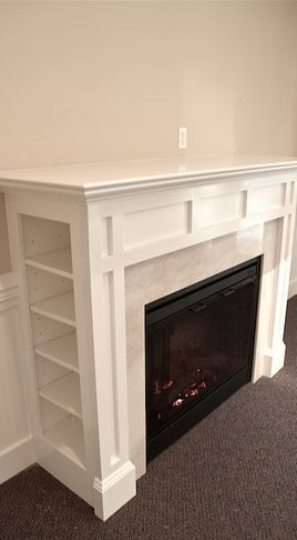 Customized moulding in new home - traditional - fireplaces - Moulding Warehouse