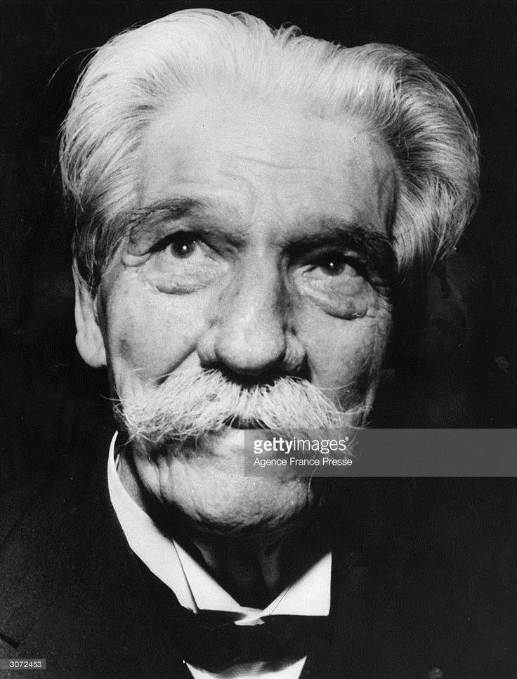 Dr Albert Schweitzer (1875 - 1965), physician, philosopher, theologian and Nobel Peace Prize winner.