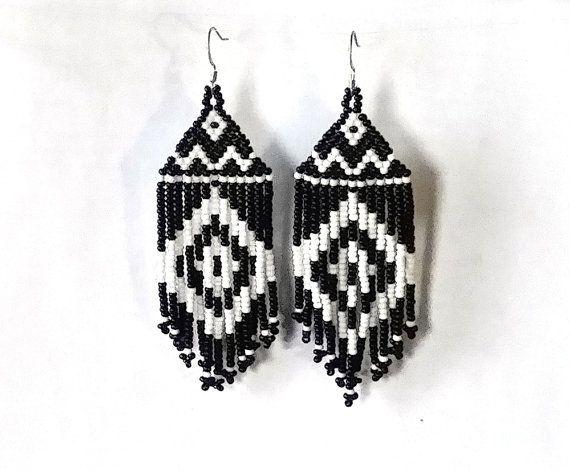 Beaded Native  American Earrings  Inspired.  Gift For Her.