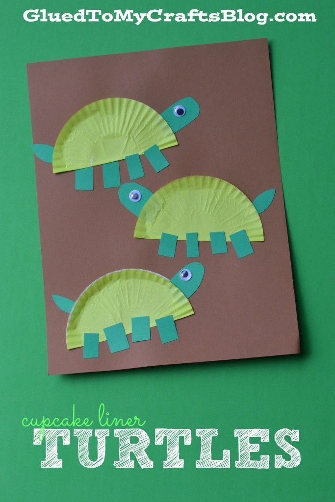 Cupcake Liner Turtles - Kid Craft Kid crafts kid craft ideas