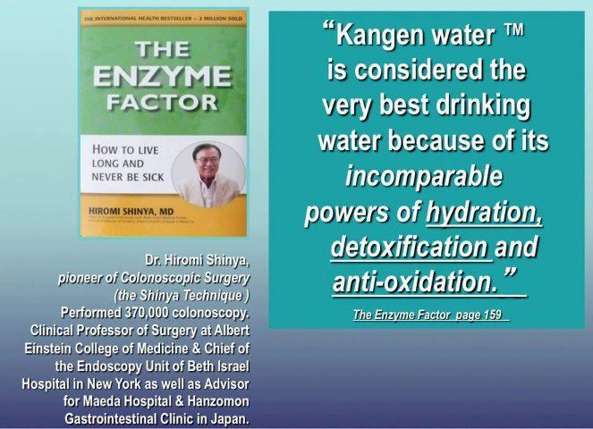 Dr. Hiromi Shinya shares his thoughts why Kangen Water is the best drinking water in the world. Learn more about Kangen Water.  #alkalinewater #kangenwater #healingwater #alkalinediet #alkalinefoods #ionizers #alkalinewaterbenefits #kangenwaterbenefits