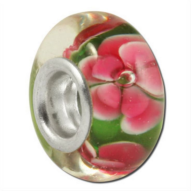 Hot Pink Hibiscus - Pandora Style Beads, Pandora Style Charms, Pandora Style Bracelets. Over 1700 Unique Charms and Beads. Free Gift Wrapping On Every Order. 100% Satisfaction Money Back Guarantee. FREE SHIPPING on orders over $50. Sterling Silver Plated Core: 4.6 mm Size 9 mm X 13 mm.
