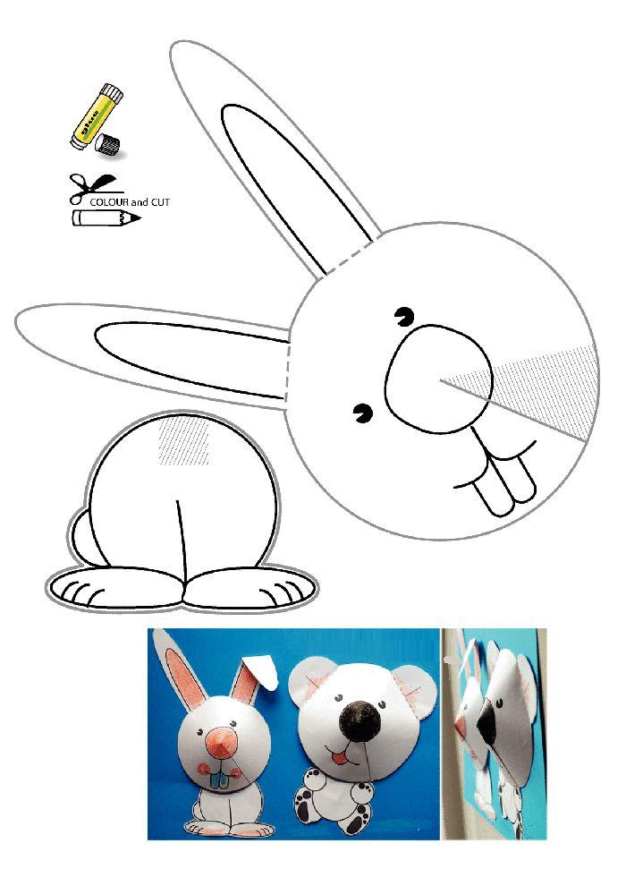 Tavşan kalıbı etkinlikleri çalışma sayfası, kalıpları etkinliği çalışmaları örnekleri sayfaları kağıdı yazdır, çıkart, indir.