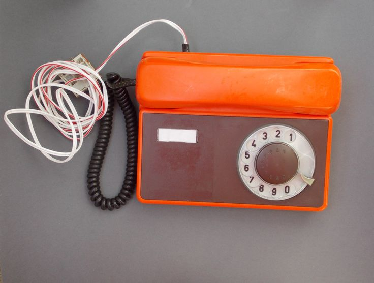 Red vintage telephone tesla company phone mid century office Vintage Dial Rotary home phone home decor made tesla desk phone old working by SomeVintage4you on Etsy