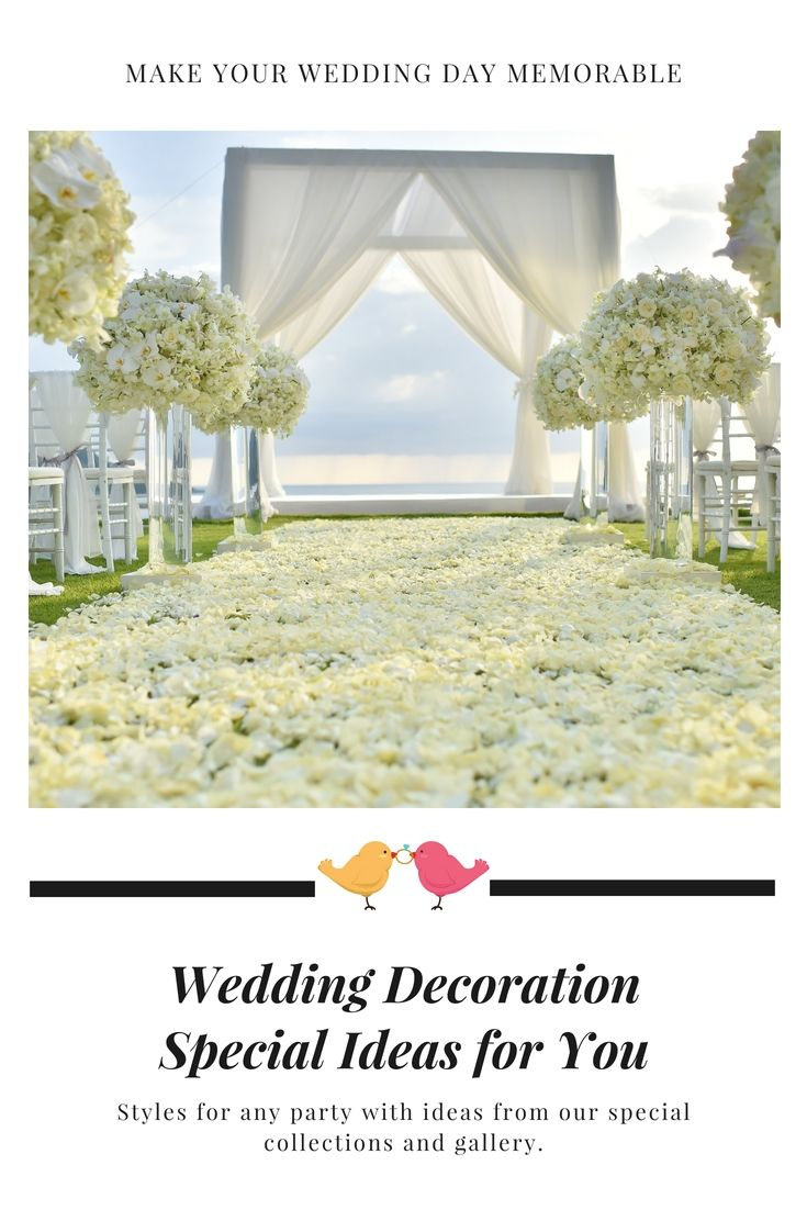 Wedding decoration designs  Liven Up Your Own Wedding Celebration Decoration By One Of These