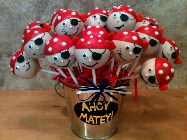 Pirate Birthday Party Cake   pirate cake pops shiver me timbers it s a pirate party i made these ...