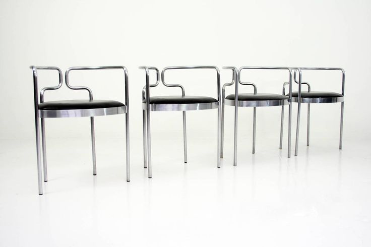 Rare Set of Henning Larsen Dining Chairs for Fritz Hansen, Denmark | From a unique collection of antique and modern armchairs at https://www.1stdibs.com/furniture/seating/armchairs/