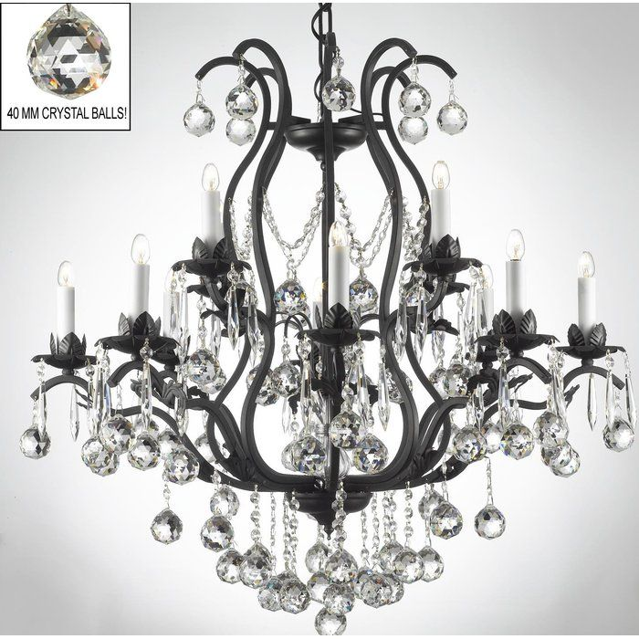 Alvan 15 Light Candle Style Tiered Chandelier Crystal Chandelier