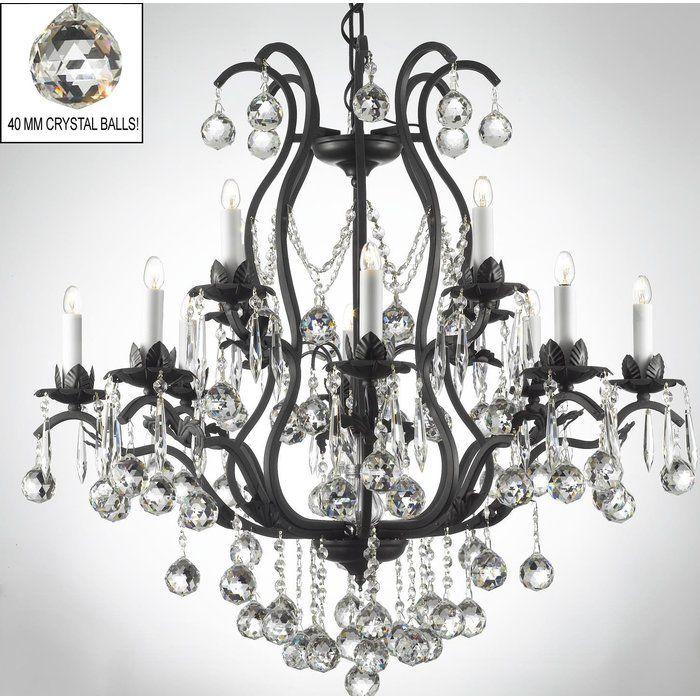 Alvan 15 Light Candle Style Tiered Chandelier Crystal Chandelier