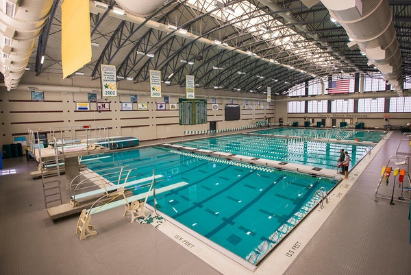 Good shot of our diving boards in the competition pool at the AFC.