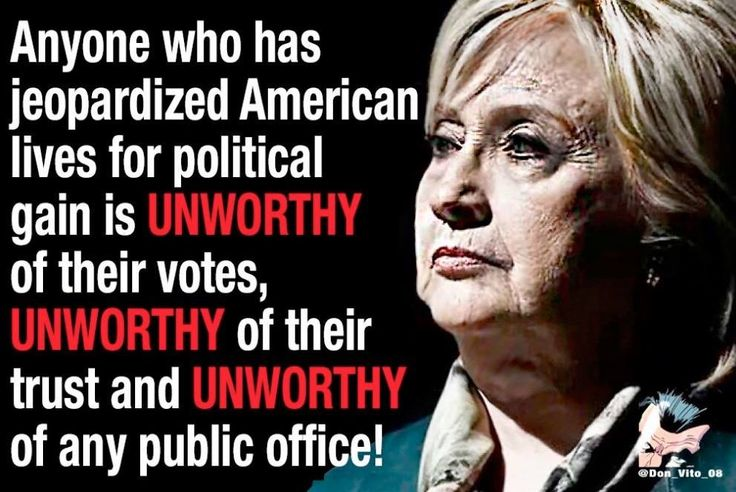 She's not what we need, we need to clean out all the political corruption in Washington and the whole country!