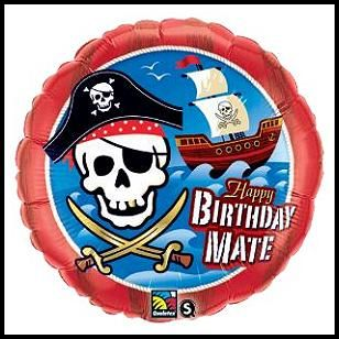 Pirate Happy B-Day Mate Mylar Balloon, $2.79 Cdn each.