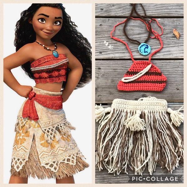 Image of Disney's Moana Crochet Costume , Moana Outfit , Disney Costume , Disney