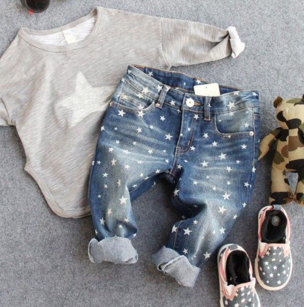 2-8Y новый 2016 весна осень высокое качество мальчики мода звезды джинсы дети трусов детей джинсы мальчиков брюки