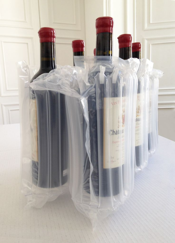 6 bottle pack ready to go... To protect your Grand Crus / liquors / Champagne during shipping with peace of mind - Feel confident - EXA AIR