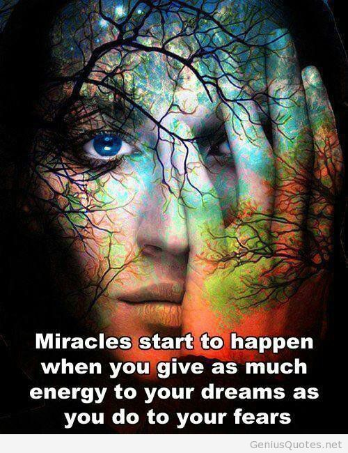 Miracles do happen. Inspirational quotes. Beautiful girl.  lovingthyself.net