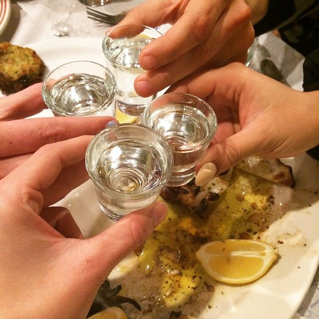 "Raki is the traditional drink of #Crete! ""Stin Ygeia sas!"""