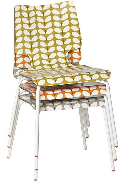 Orla Kiely Kitchen Chair Stack by FLEUX' Paris, via Flickr