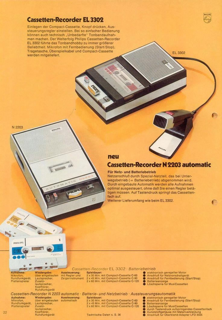 Philips Vintage Cassette Recorders - 1971