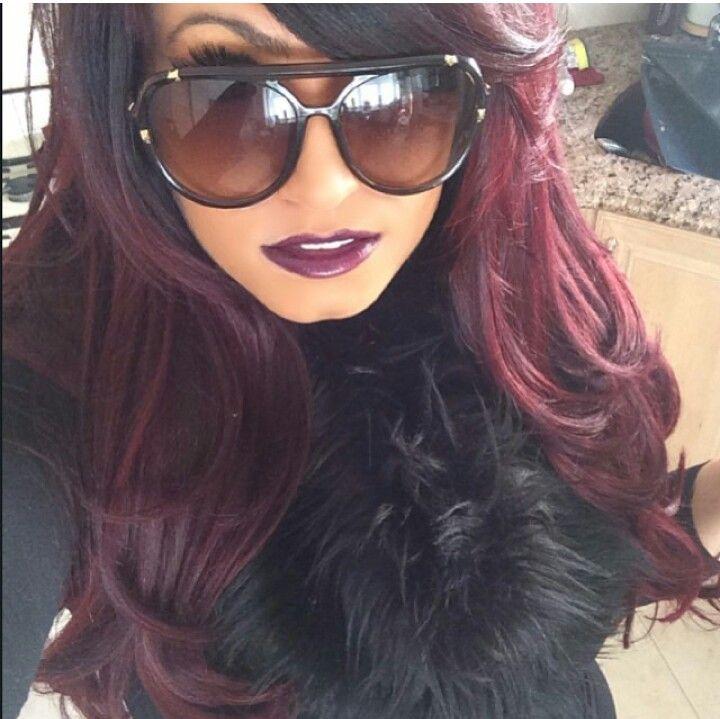 Violet Red Hairplum Wine Red Velvet Love It  Red