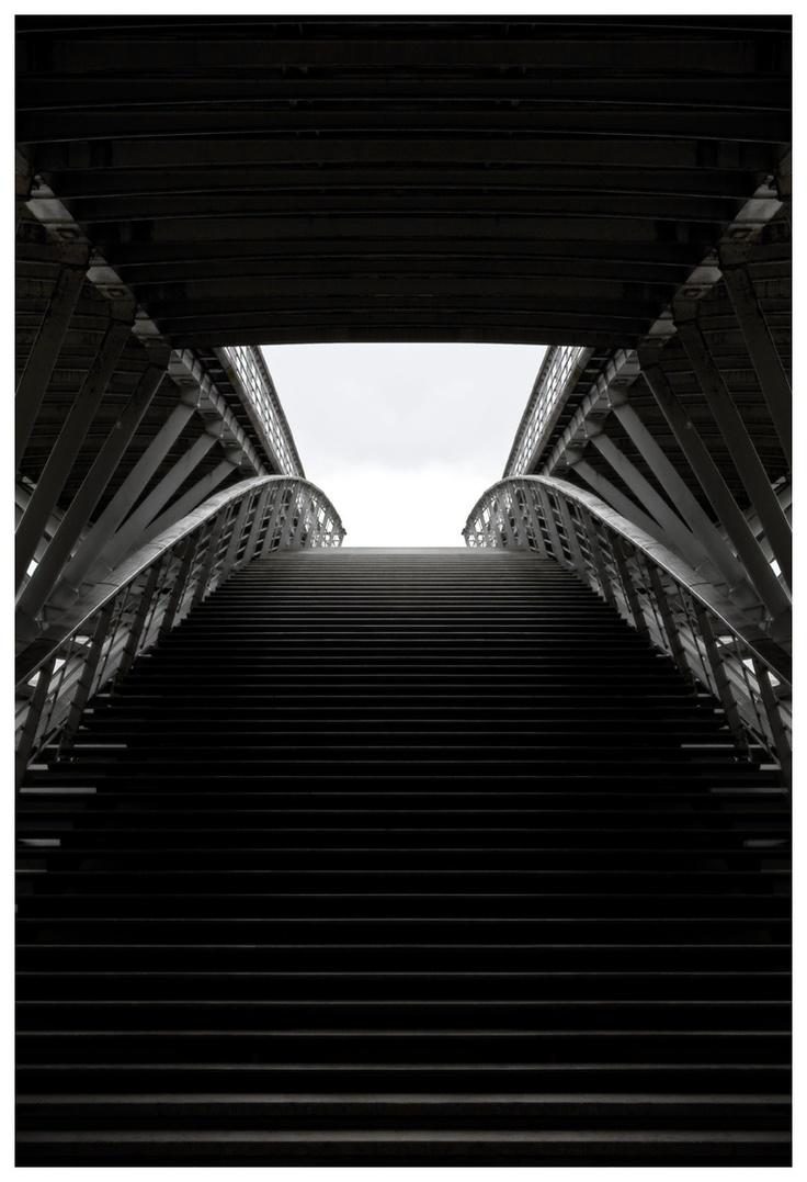 Passerelle Léopold-Sédar-Senghor - vertical - Photographie urbaine et architecture   28/07/2011
