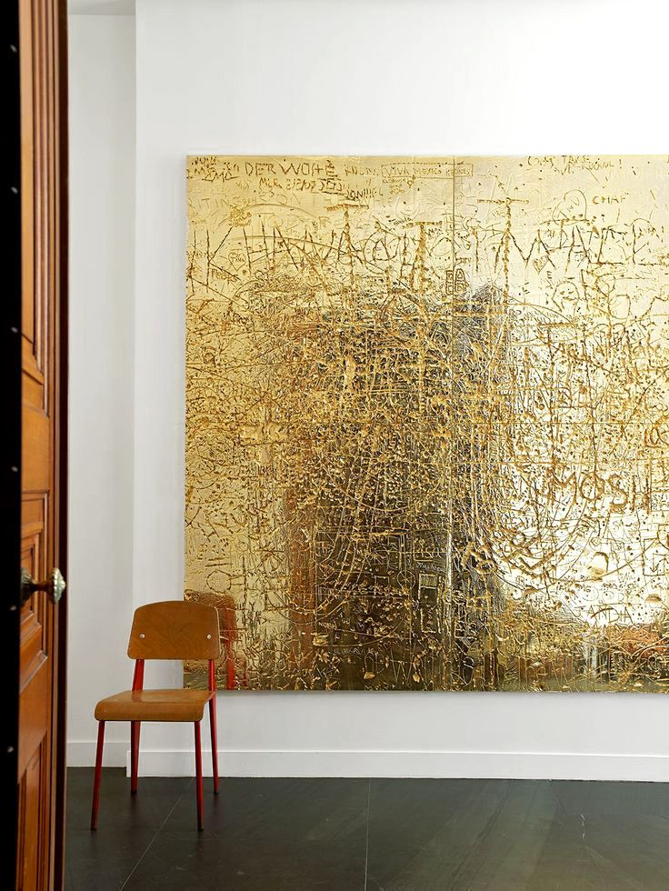 FOYERS & ENTRYWAYS: The Spaces Between | Artwork by Rudolf Stingel. Photo by Gaelle Le Boulicaut.