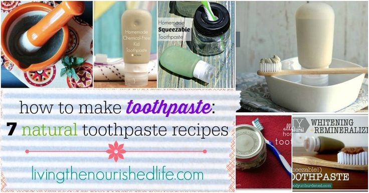 How to Make Toothpaste 7 Natural Toothpaste Recipes - from livingthenourishedlife.com