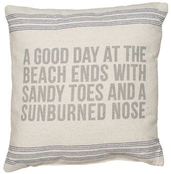 A Good Day Linen Pillow